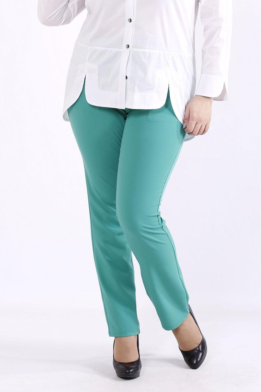 B067-4   Зелені штани жіночі великого розміру 42-74