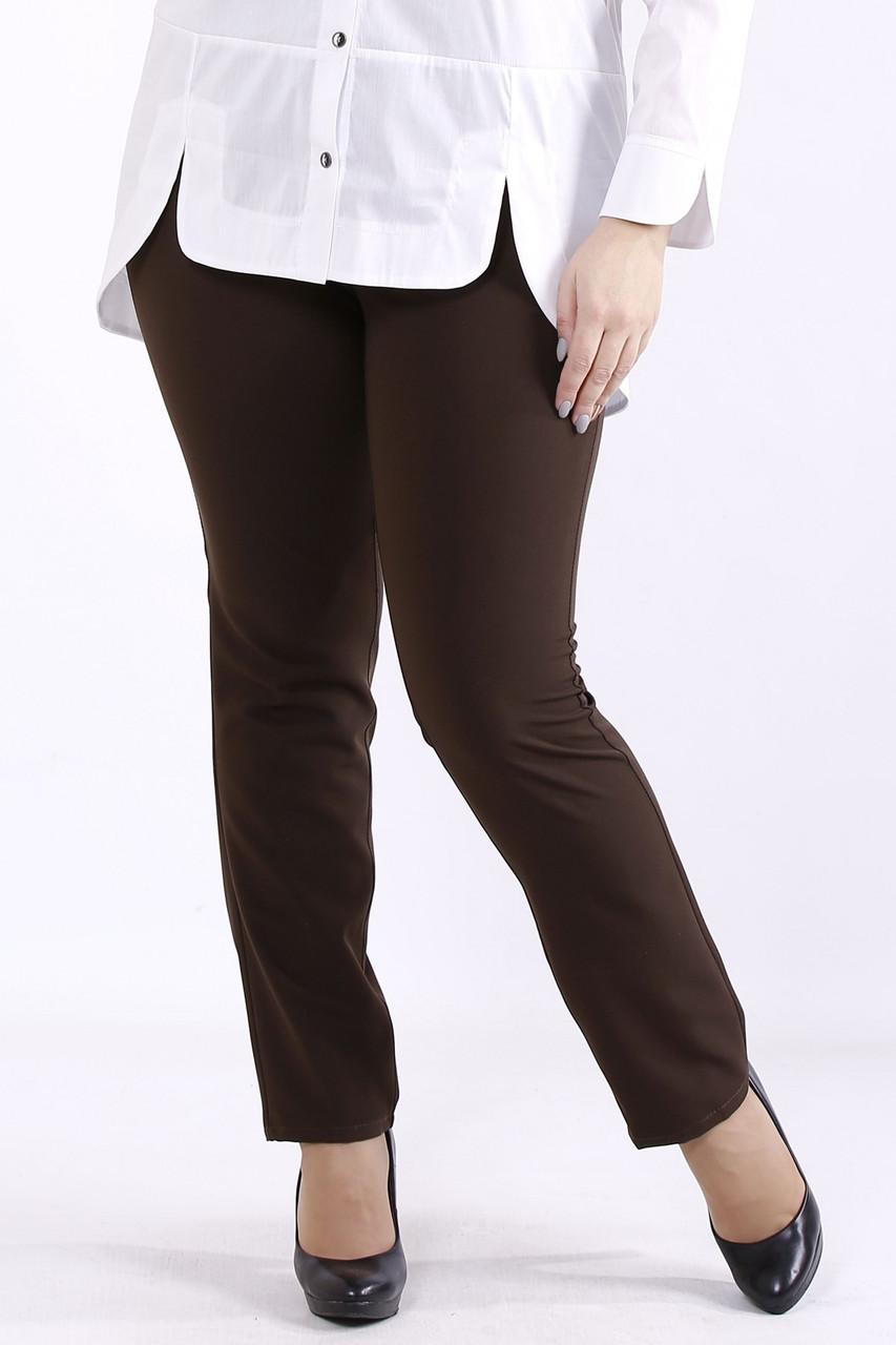 B067-2 | Шоколадні штани жіночі великого розміру 42-74