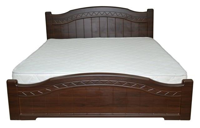 Ліжко двоспальне з ДСП/МДФ в спальню Домініка 160х200 з металевим каркасом та газовим ПМ Неман
