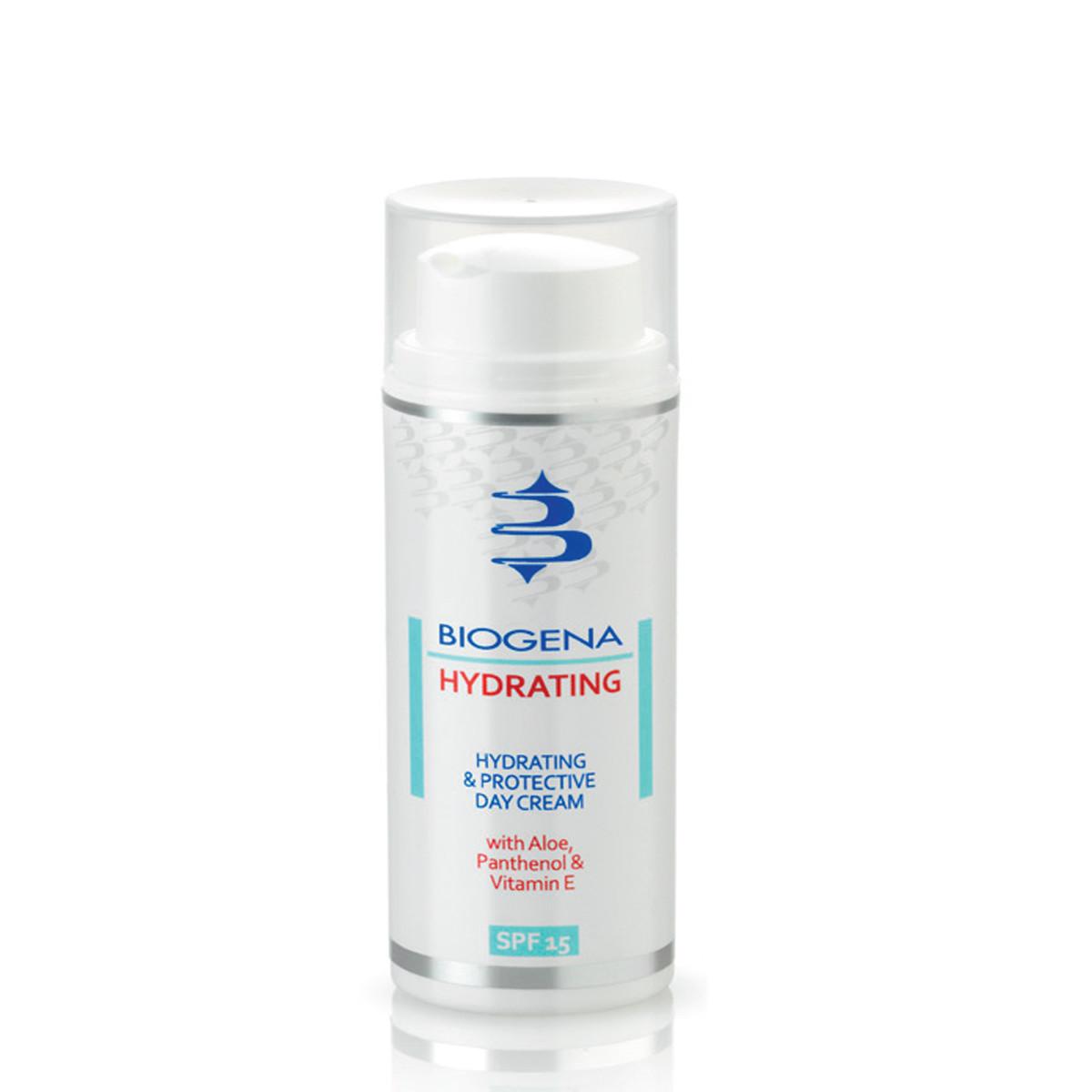 Biogena Hydrating and Protective Day Cream SPF 15 - Денний зволожуючий і захисний крем з SPF-15