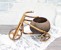 Кашпо велосипед из кокоса, фото 1