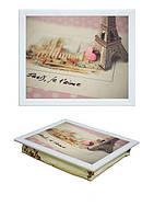 Поднос на подушке BST 040379 44*36 белый сувениры из парижа