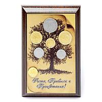 Картина денежное дерево с деньгами