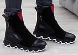 Ботинки молодежные на толстой подошве из натуральной кожи и замши от производителя модель БС1455-1, фото 2