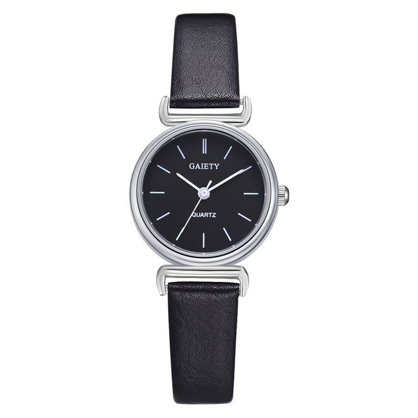 Черные женские наручные часы Gaiety для небольшого запястья | Циферблат 26мм | 1648