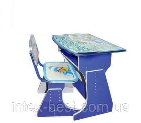 Регулируемая детская парта растишка со стульчиком Bambi HB-2029UK-01