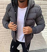 Мужская стильная курточка (осень - зима) grey