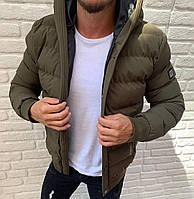 Мужская стильная курточка (осень - зима) хакки