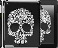 "Чехол на iPad 2/3/4 Череп с цветами ""2864c-25"""