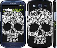 """Чехол на Samsung Galaxy S3 Duos I9300i Череп с цветами """"2864c-50"""""""