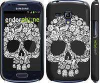 "Чехол на Samsung Galaxy S3 mini Череп с цветами ""2864c-31"""