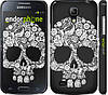 "Чехол на Samsung Galaxy S4 mini Duos GT i9192 Череп с цветами ""2864c-63"""