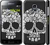"Чехол на Samsung Galaxy S5 mini G800H Череп с цветами ""2864c-44"""