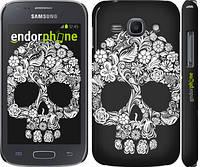 """Чехол на Samsung Galaxy Ace 3 Duos s7272 Череп с цветами """"2864c-33"""""""