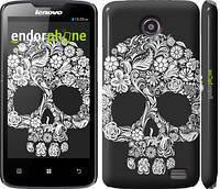 """Чехол на Lenovo A820 Череп с цветами """"2864c-68"""""""