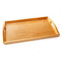 Поднос деревянный с ручками мини BST 040080 бесцветный