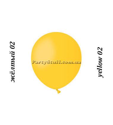 Воздушные шарики Gemar А50 пастель ЖЕЛТЫЙ