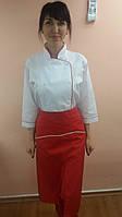 Костюм повара-тройка с рубашечной ткани три четверти рукав