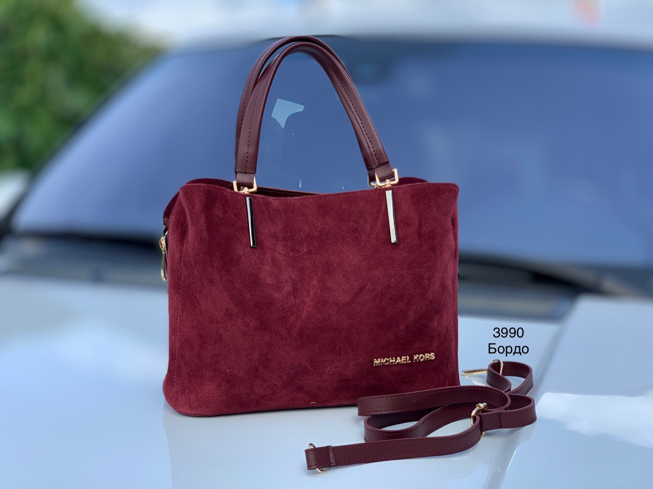 Женская сумочка Натуральная замша и Эко кожа Турция
