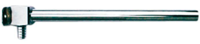 Куточок з нікель. трубкою Cu15 і кронштейном, L = 210мм, D = 14мм, (товщ. 2,0 мм)