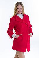 Женское красное кашемировое пальто-фрак, разные цвета