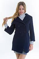 Женское синее кашемировое пальто-фрак, разные цвета