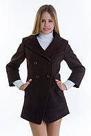 Женское коричневое кашемировое пальто-фрак, разные цвета