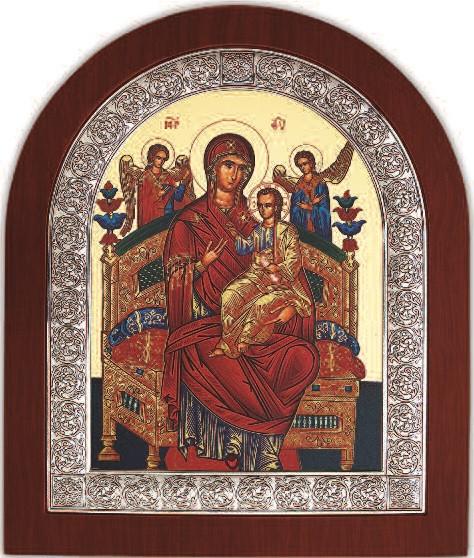 Икона Божией Матери Всецарица 11х13см  в серебряной рамке