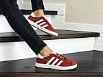 Жіночі кросівки Adidas Gazelle (червоні), фото 3