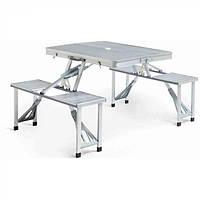 Туристический складной стол трансформер для пикника на дюралюминиевой основе / Качественный подарок