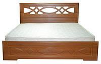 Ліжко півтораспальне з ДСП/МДФ в спальню Ліана 140х200 з металевим каркасом та газовим ПМ Неман, фото 1