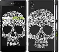 "Чехол на Sony Xperia Z2 D6502/D6503 Череп с цветами ""2864c-43"""