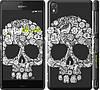 "Чехол на Sony Xperia Z3 dual D6633 Череп с цветами ""2864c-59"""