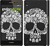 """Чехол на Huawei Ascend P7 Череп с цветами """"2864c-49"""""""