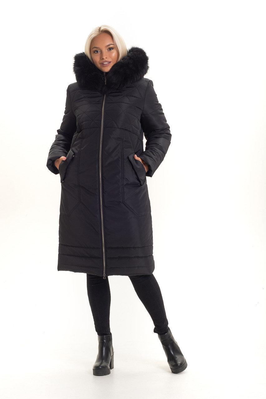 Молодежное зимнее пальто с  натуральним  мехом с 48 по 56 размер