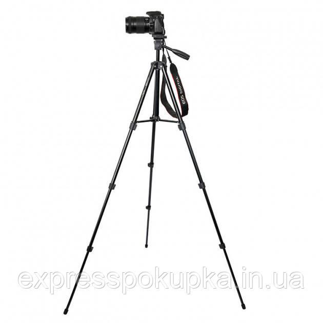 Компактный штатив для Фотоаппарата, Видеокамеры A608 черный (48-142 см)