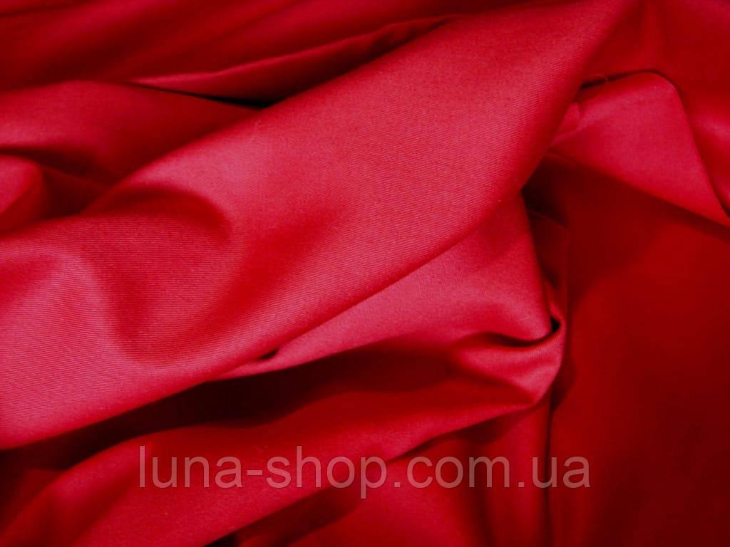 Красный однотонный комплект из сатина