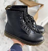 Женские демисезонные черные ботинки Dr.Martens БЕЗ МЕХА 1в1 Как Оригинал Мартинсы ААА+