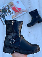 Ботинки женские демисезонные 6 пар в ящике черного цвета 36-41, фото 1