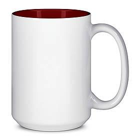 Чашка для сублимации цветная внутри 425 мл (Бордовый)