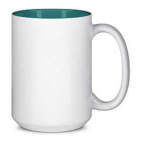 Чашка для сублимации цветная внутри 425 мл (Зелёный)