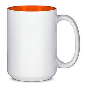Чашка для сублимации цветная внутри 425 мл (Оранжевый)