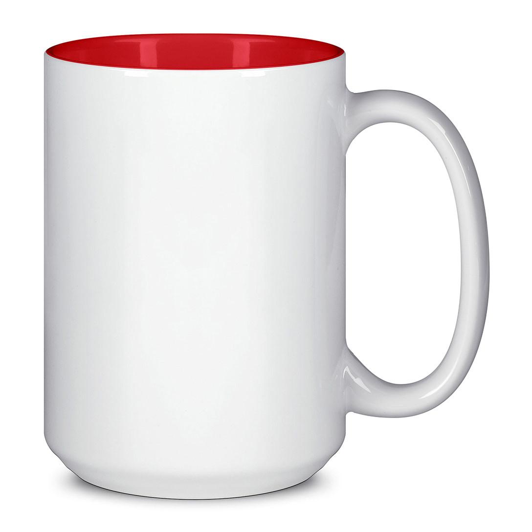 Чашка для сублимации цветная внутри 425 мл (Красный)