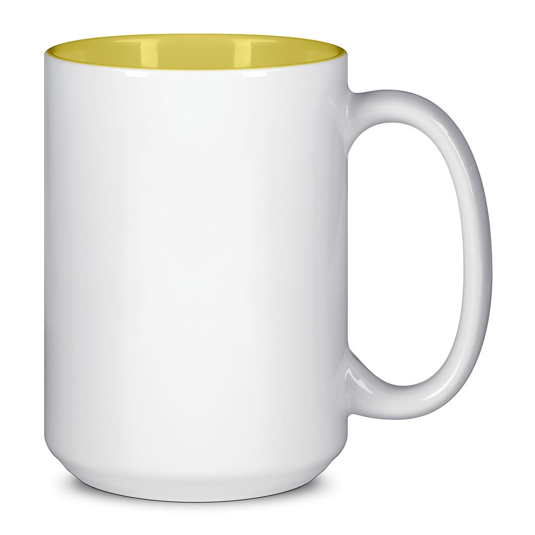 Чашка для сублимации цветная внутри 425 мл (Жёлтый)