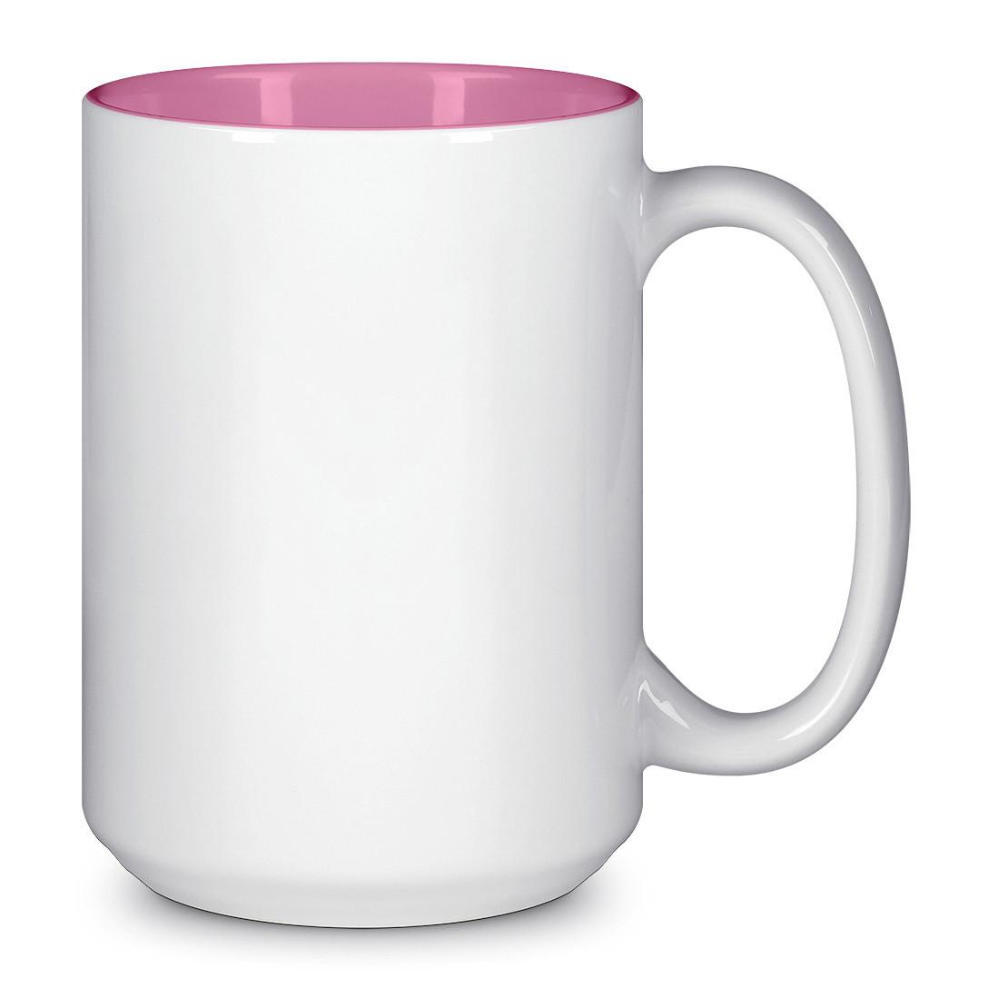 Чашка для сублимации цветная внутри 425 мл (Розовый)