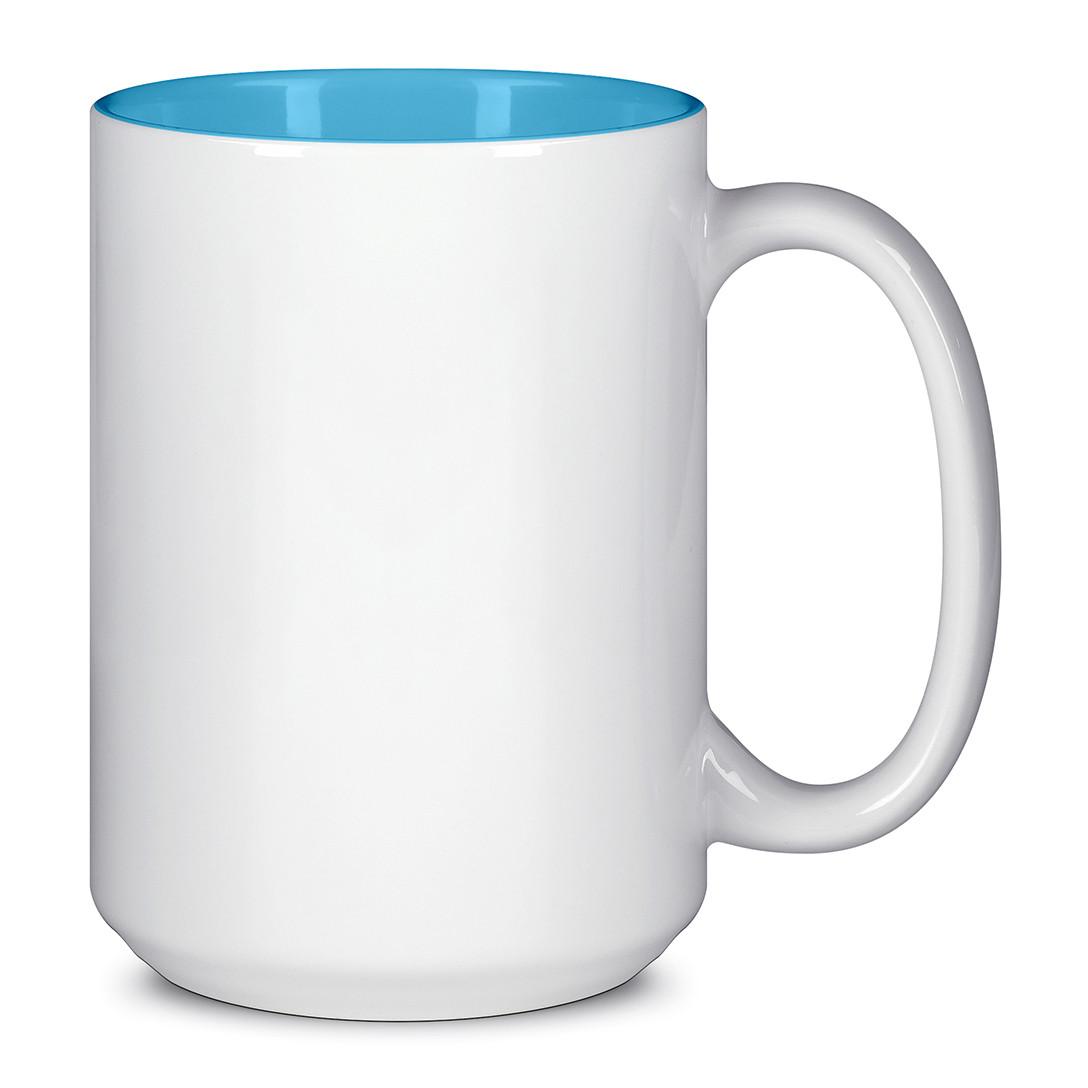 Чашка для сублимации цветная внутри 425 мл (Голубой)