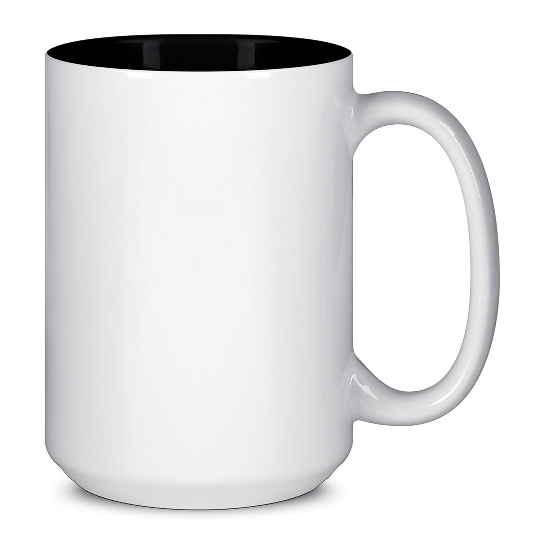 Чашка для сублимации цветная внутри 425 мл (Чёрный)