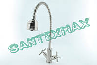 Смеситель для кухни с гибким изливом Mixxus DVE 011 Reflector нержавейка