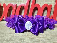 Подвязка для невесты Камелия. Цвет фиолетовый.