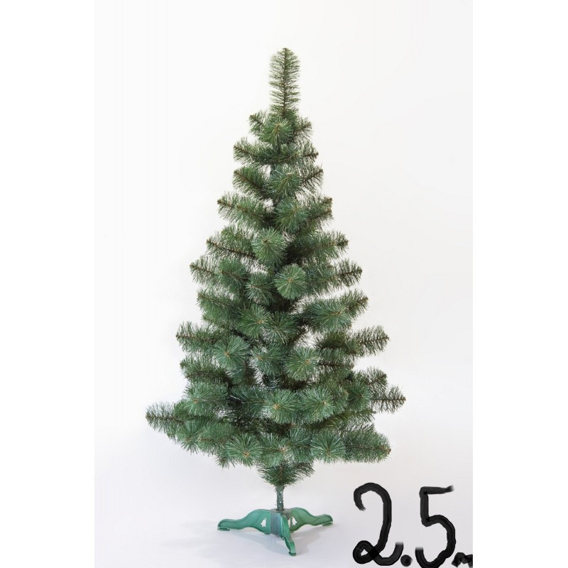 """Искусственная елка """"Принцесса"""" зелёная с белыми кончиками 2.5м"""
